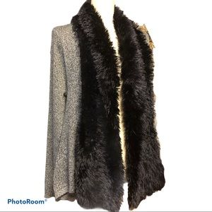 Lauren Michelle   Fur Collar Sweater Cardigan